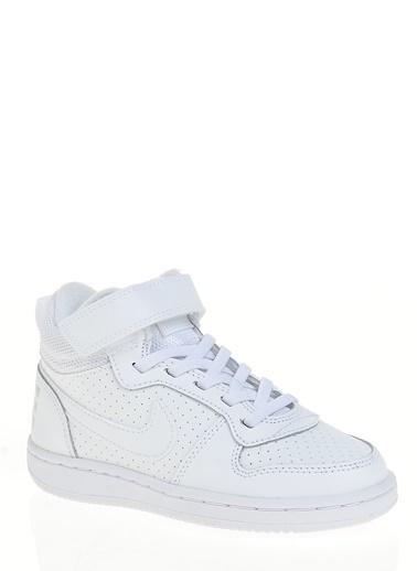 Nike 870026-100 Nike Ayakkabı Court Borough Mid Beyaz